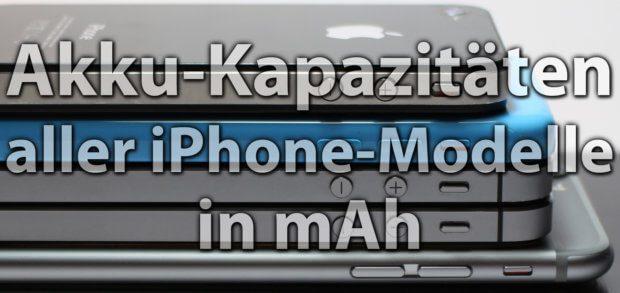 Die Apple iPhone Akku-Kapazität (mAh) aller Modelle findet ihr in diesem Beitrag. Auf Sir-Apfelot.de bekommt ihr auch die Werte von iPad, Apple Watch und Co. Wenn ihr euer Modell nicht genau zuordnen könnt, findet ihr auch entsprechend die Modellnummer in jedem Ratgeber. iPhone Xs Akku mAh 2018 iPhone 11 Pro Akku mah 2019