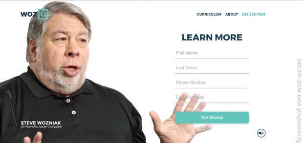 Woz U ist eine Online-Uni, die Programmierer und Computer-Experten zum kleinen Preis ausbilden will. Steve Wozniak, Mitbegründer von Apple, steht hinter dem Angebot.