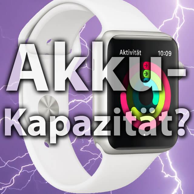 Apple watch battery, Watch Series 1, 2, 3 battery capacity, generation