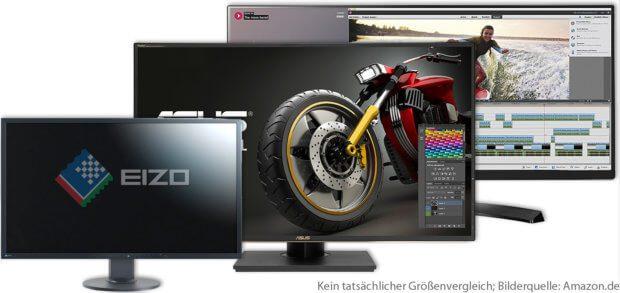 4K Monitore mit Thunderbolt und USB-C gibt es von Asus, Dell, EIZO, LG und weiteren Herstellern. Modelle für Apple MacBook Pro 2016 / 2017 sowie welche mit DisplayPort und HDMI findet ihr hier!