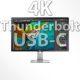 UHD Display für MacBook Pro Thunderbolt 3 Thunderbold Anschluss