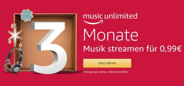 3 Monate für je nur 99 Cent Amazon Music Unlimited nutzen, über 40 Millionen Songs, Podcasts, Hörbücher, die Bundesliga und weiteren Fußball anhören. Das geht aktuell wieder - zudem wartet ein 10.000€ Amazon-Guthaben in einer bestimmten Playlist!