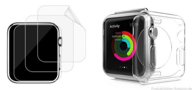 Der Displayschutz gehört zum praktischen Zubehör für eine Smartwatch. Ob Apple Watch Panzerglas, Liquid-Folie, Displayschutzfolie im Mehrfachpack oder Hülle / Case für die Apple Watch - hier findet ihr eine Auswahl!