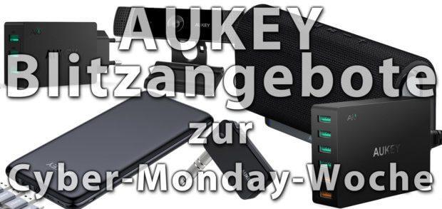 Unter den Amazon Blitzangeboten sind heute, am 22. November, auch eine Menge AUKEY-Produkte. Bluetooth-Lautsprecher, USB-Hubs, Netzteile, Powerbanks, eine Full HD Webcam und mehr in der Cyber-Monday-Woche 2017!