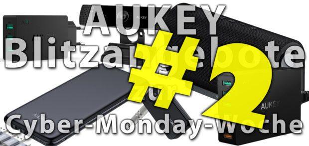 Unter den Amazon Blitzangeboten sind heute, am 23. November, wieder jede Menge AUKEY-Produkte. Kabel, Netzteile, USB-Hubs, ein Aroma Diffuser und mehr für die Cyber-Monday-Woche 2017!