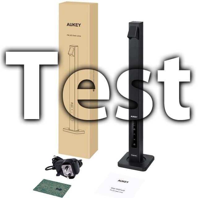 Testbericht AUKEY Schreibtischlampe mit LED und USB