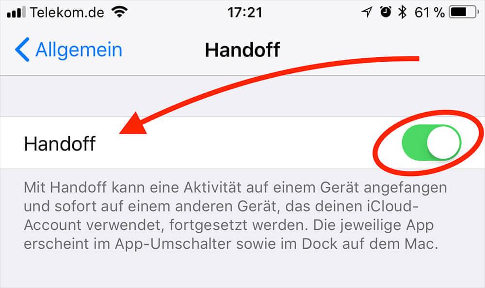 """Die Funktion """"Handoff"""" ermöglicht den schnellen Wechsel von iPhone zu Mac und umgekehrt, wenn man Safari, Nachrichten oder andere Apps verwendet."""