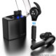 Kopfhörer mit Ladeschale und Austausch-Akku, Batterie austauschen, wechseln, kabelloses Headset