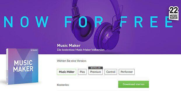Den MAGIX Music Maker Free Download findet ihr auf der offiziellen Produktseite. Gratis Software zum Musik machen vom Profi-Anbieter.
