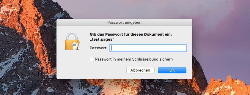 Mit Pages von Apple läßt sich jedes Text-Dokument auch mit einem Passwort schützen. Da Pages über iCloud läuft, funktioniert die Sache sowohl am Mac als auch iPad oder iPhone.
