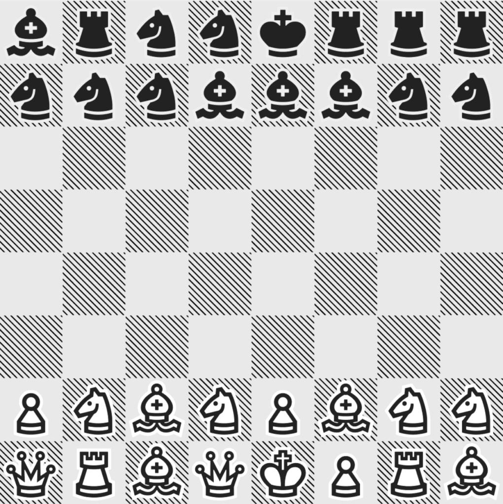 """Hier sieht man ein Spielbrett im Rank 46. Man stellt schnell fest, das hier einiges anders ist als bei einem """"normalen"""" Schachspiel. :D"""