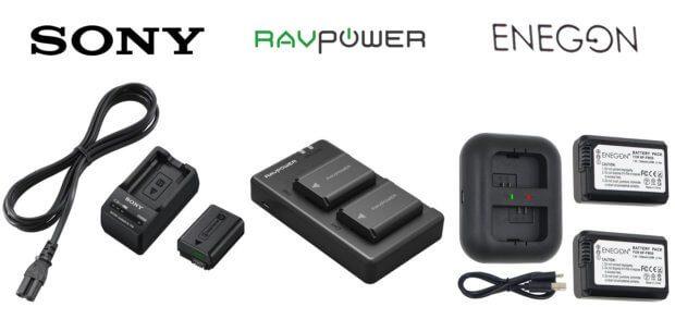 Sony NP-FW50 Ladegerät und Akkus kaufen - das geht bei Amazon. Die drei Angebote im Bild variieren in Preis und Leistung. Hier findet ihr das beste Zubehör für NEX, Alpha, SLT-A und weitere Kamera-Serien.