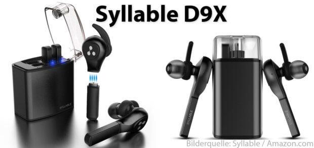 Syllable D9X: Kabellose In Ear Bluetooth Kopfhörer mit austauschbaren Akkus. Als Headset für Telefonate, für Musik, Podcasts und mehr. In Deutschland kaufen geht noch nicht, in den USA kosten sie $79,99.