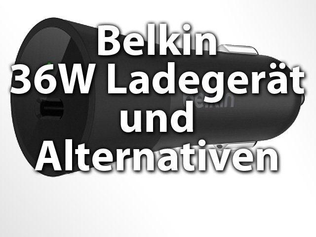 Belkin USB-C Autoladegerät mit 36W Lade-Leistung für PKW-Zigarettenanzünder, Smartphone, Tablet, Notebook laden im Auto