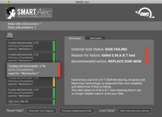 Benutzeroberfläche der Software. Bilderquelle: smartalec.biz