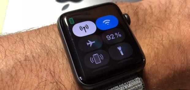 Den Apple Watch Akkustand in Prozent findet ihr u. a. im Kontrollzentrum.
