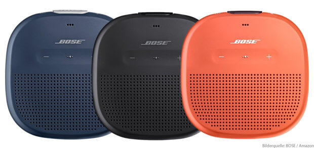 Der BOSE SoundLink Micro ist ein wasserdichter Bluetooth Lautsprecher, den ihr bei Amazon kaufen könnt. Für Musik, Hörbuch, Anrufe oder Sprachassistenz sowie für mobile Anwendung ideal.