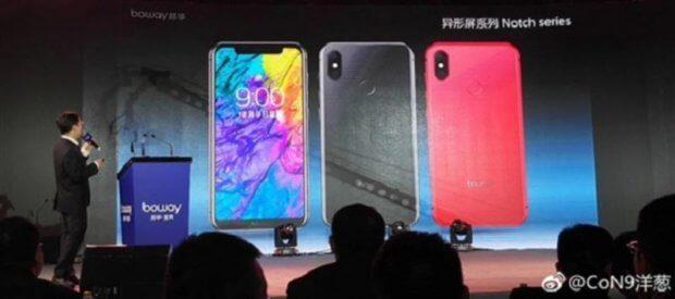 Die Notch Series von Boway ist eine offensichtliche iPhone X Kopie aus China, Quelle: MacRumors.com