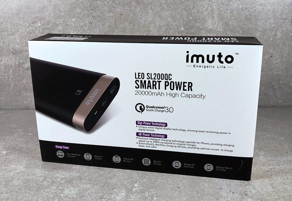 Die iMuto SL200QC ist eine QualComm QuickCharge-kompatible Powerbank, die zwei USB-Ladeausgänge besitzt (nur einer ist QC-fähig) (Fotos: Sir Apfelot).