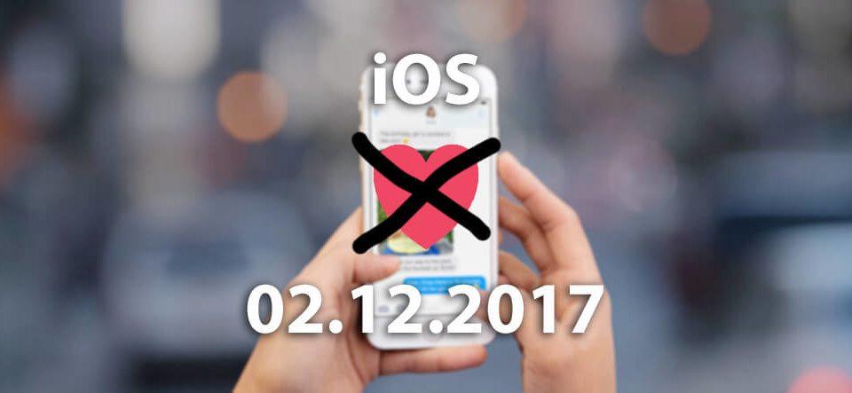 Not in Love: iOS 11.1.2 und der 02.12.2017 – aber es gibt eine Lösung, damit sich iOS und der Dezember wieder lieb haben! (Foto: Apple.com)