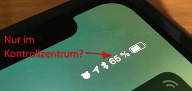 Wie kann man die iPhone X Akkuanzeige in Prozent anzeigen lassen? Geht das nur im Kontrollzentrum oder gibt es noch andere Lösungen? Hier drei Möglichkeiten für euch! (Bilder: Sir Apfelot)