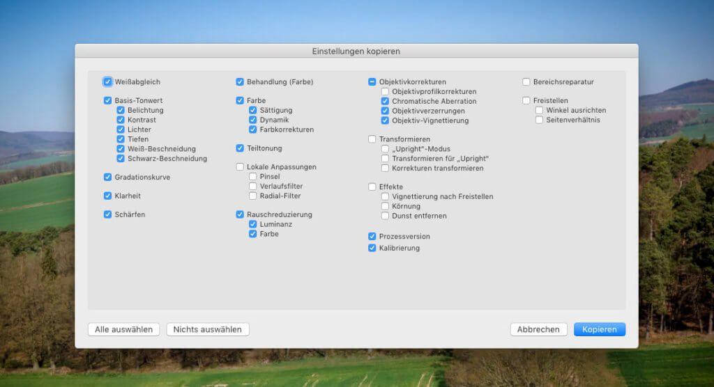 Die Kopieren- und Einsetzen-Buttons von Loupedeck bieten leider noch nicht die Auswahl der zu kopierenden Einstellungen, wie die entsprechende Lightroom-Funktion – ein Kritikpunkt, der durch ein Software-Update hoffentlich bald der Vergangenheit angehört.