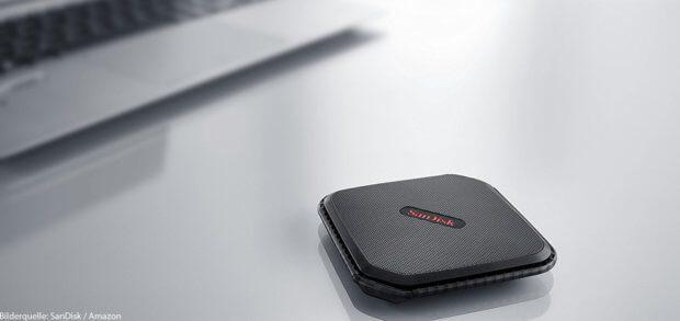 Die externe SSD-Festplatte SanDisk Extreme 500 mit 500 GB Speicher ist klein, mobil, vielseitig einsetzbar und kann ältere Apple Mac-, iMac- und MacBook-Modelle ohne Umbau schneller machen.