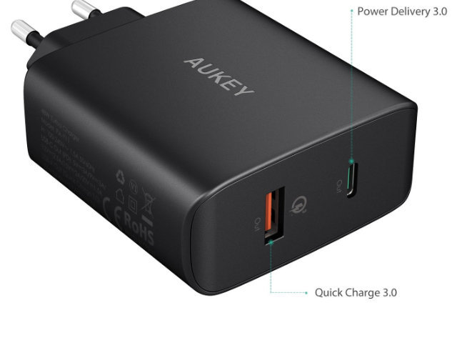 aukey pa y11 ladeger t mit quick charge 3 0 power. Black Bedroom Furniture Sets. Home Design Ideas