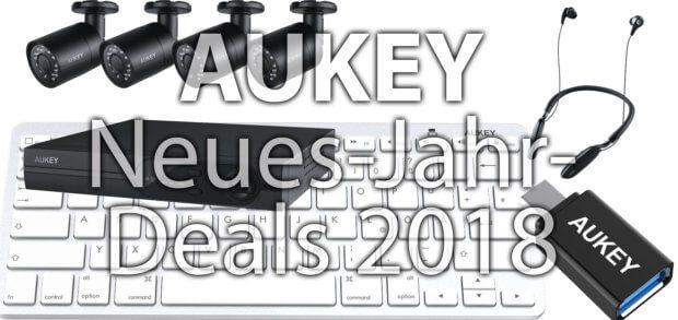 Bei der 2018 Neues-Jahr-Aktion von AUKEY könnt ihr vom USB-Hub bis zum Kamera-Überwachungssystem viele Produkte billiger kaufen.