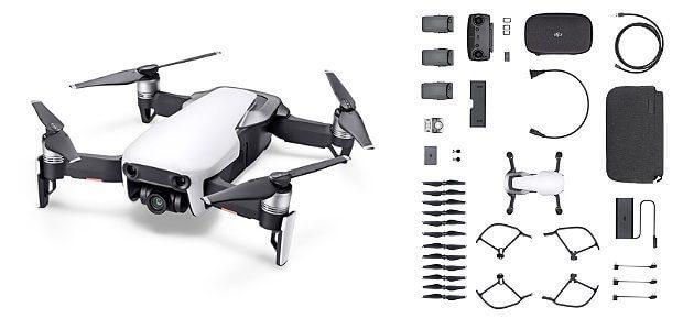 Die DJI Mavic Air Fly More Combo kaufen, das bedeutet neben der 4K Kamera-Drohne jede Menge Zubehör zum Spar-Preis zu bestellen. Hier bekommt ihr alle Informationen.