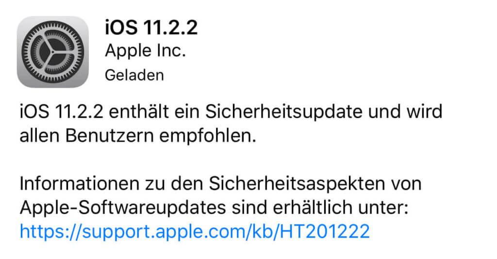 Selbst wenn es Performance-Unterschiede geben sollte: Das Update auf iOS 11.2.2 sollte man in jedem Fall durchführen, da es massive Sicherheitslücken schließt.