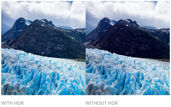 Vergleich von HDR-Foto und normalem Foto.