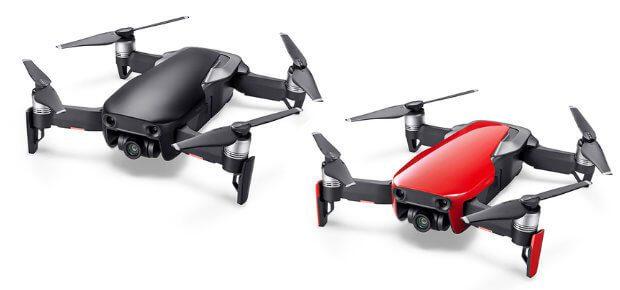 Neben der Auswahl der drei Drohnen-Sets und weiterer Produkte wie den DJI Goggles habt ihr auch die Wahl der Farbe: Arctic-Weiß, Onyx-Schwarz oder Flammen-Rot