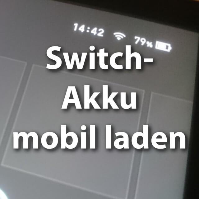Nintendo Switch Akkuhülle oder Powerbank.