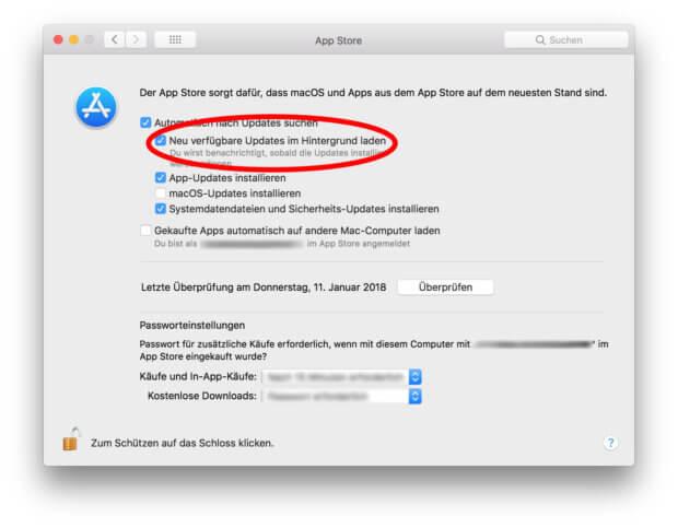 In den Systemeinstellungen könnt ihr das automatische Laden von Updates aktivieren und deaktiveren.