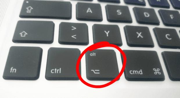 Die MacBook Pro Wahltaste (Modell von 2012)