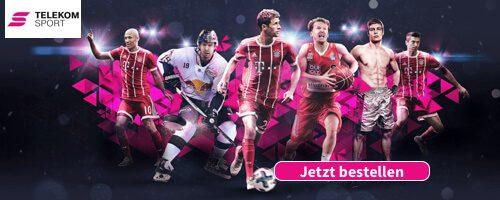 Das Telekom Sportpaket bringt euch im Web, in der Telekom Sport App sowie auf dem Smart TV nicht nur Fußball, sondern auch Eishockey, Basketball, Fighting Sports und mehr live aufs Display! Die Kosten liegen monatlich bei nur 9,95 Euro.