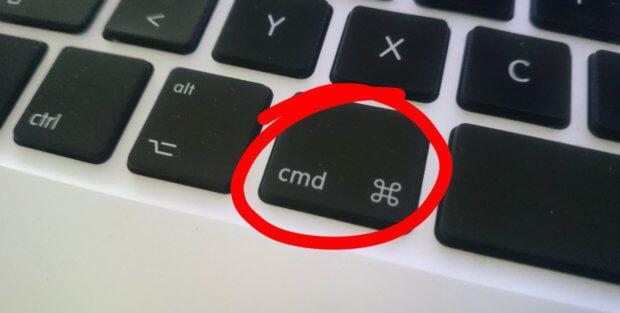 Die MacBook Pro Befehlstaste (Modell von 2012)