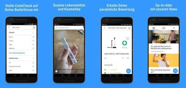 Die CodeCheck App zeigt, was in Produkten steckt - einfach den Barcode von Kosmetika oder Lebensmitteln scannen und den Check mit Bewertung durchführen sowie die passende Alternative finden!