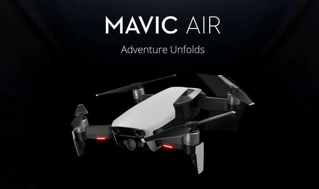 Die DJI Mavic Air ist faltbar und bietet trotzdem viele der professionellen Vorzüge, die die Pro Version hat.
