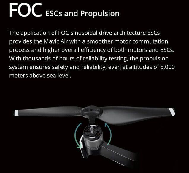 FOC - Ansteuerung der Motoren in Sinusform macht die Drohne deutlich leiser.