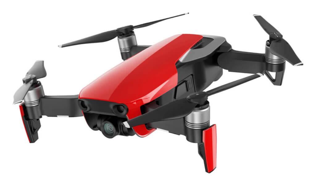 Ausklappbare Landebeine der Drohne.