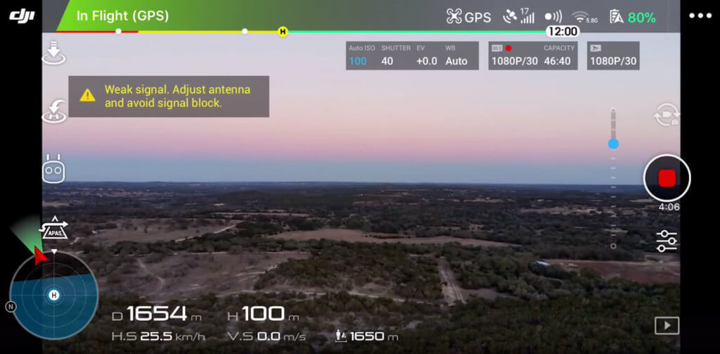 Range test of the drone in Texas.