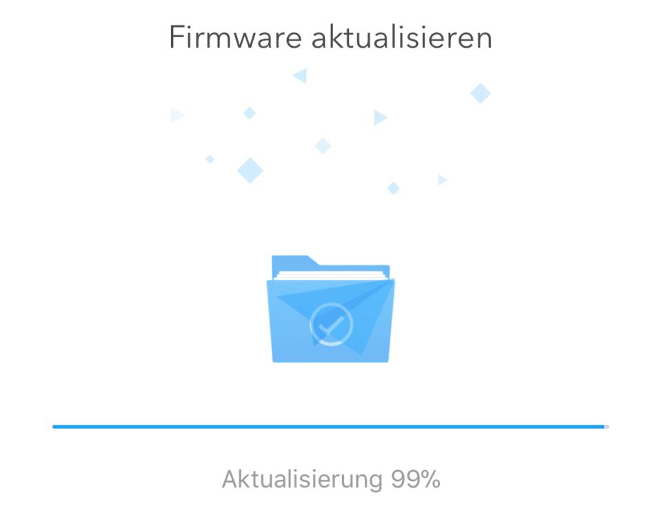 Was tun, wenn das Update hängt? Bei 99% ist fast alles geschafft und es schadet nicht, wenn man alle Geräte aus- und wieder einschaltet.