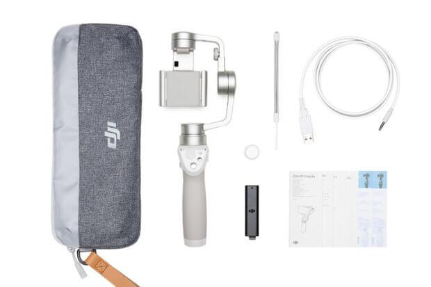 Der Lieferumfang inkl. Transporttasche für ein sicheres Transportieren, damit ihr immer und überall stabile iPhone-Videos mit der DJI GO App aufnehmen könnt.