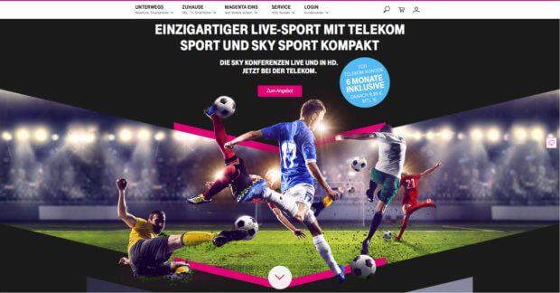 Die Webseite der Telekom zum beschriebenen Sportpaket-Angebot wirkt nicht nur für hartgesottene Fans einladend, sondern auch für WM- und EM-Gucker ;)