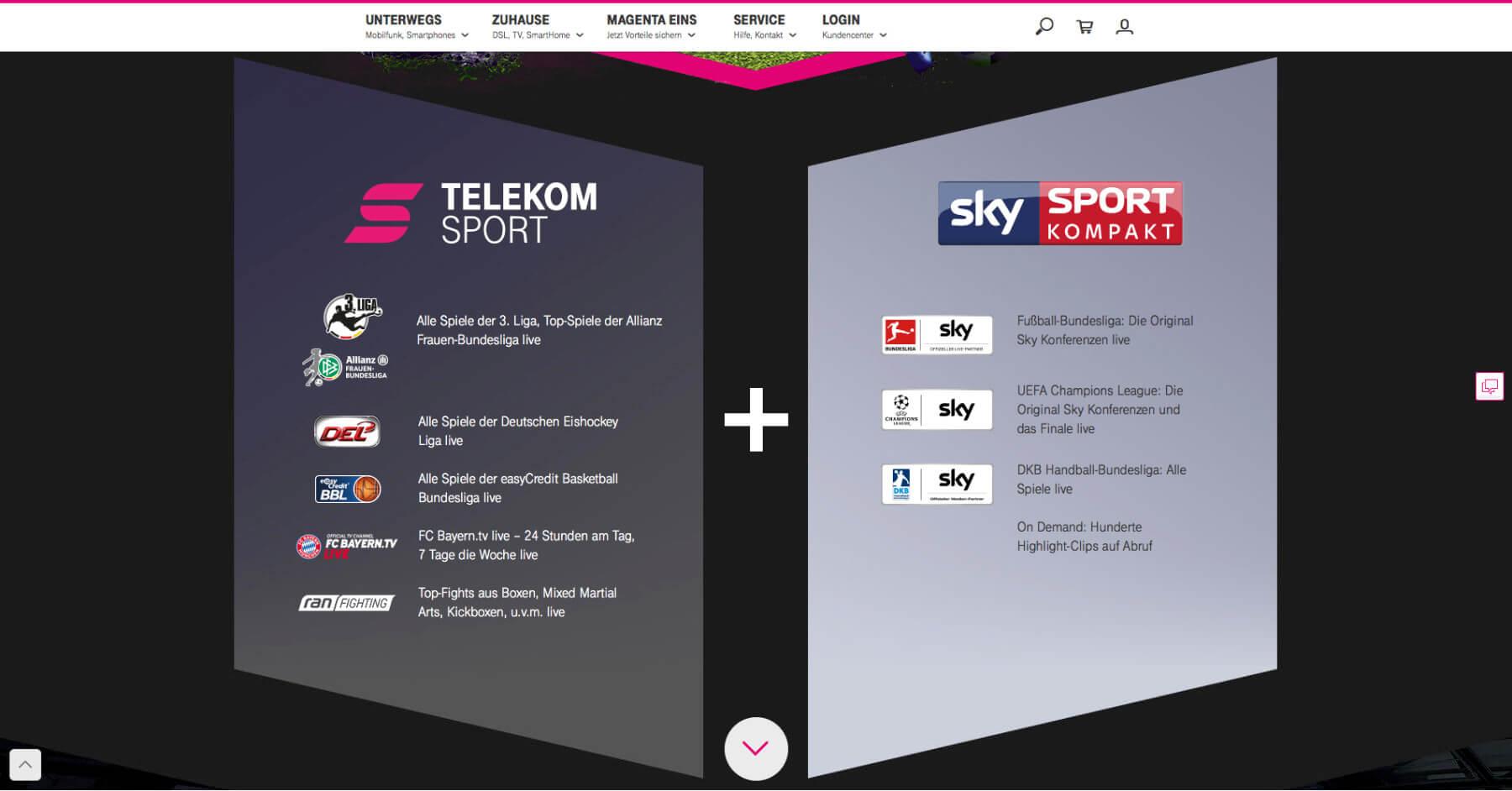 telekom sportpaket sport events live per stream app und smart tv. Black Bedroom Furniture Sets. Home Design Ideas