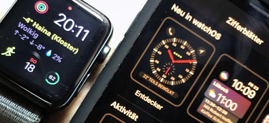 Mit der Watch-App auf dem iPhone lassen sich die Ziffernblätter (Watch-Faces) ändern und auch Apps auf der Watch installieren.