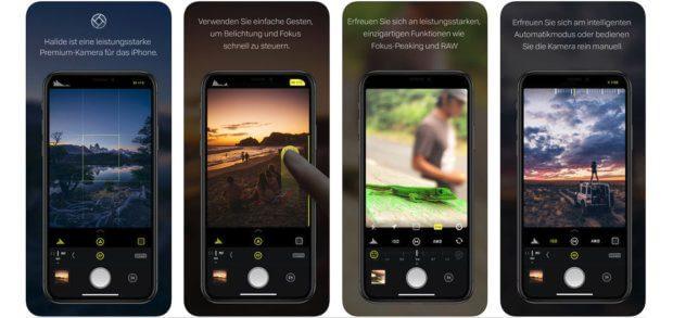 Die Halide iOS-App fürs iPhone sorgt für viele Foto-Effekte und die manuelle Steuerung von Fokus, Belichtung, ISO, Weißabgleich und Co. Zudem gibt es Tiefeneffekte, RAW-Aufnahme-Modi und mehr.