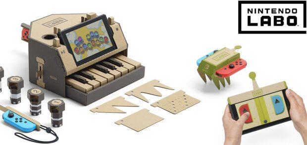 Nintendo Labo für die Switch-Konsole gibt es ab Ende April 2018 als sogenanntes Toy-Con Zubehör in Deutschland zu kaufen.
